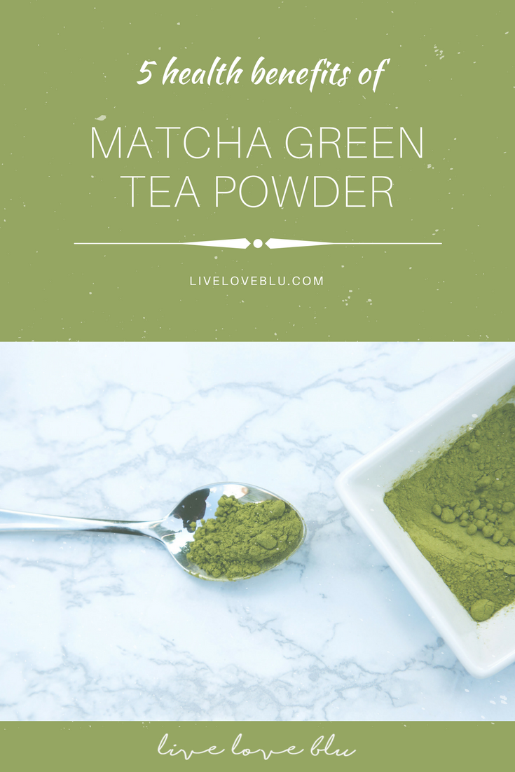 "The ""T"" on Matcha green tea powder - live love blu"